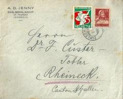 Brief  Zihlschlacht - Rheineck          1933 - Briefe U. Dokumente