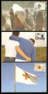 1992 - Max.cards Zegelkoerier 22,  23 And 24 - Red Cross [KD079] - Maximumkaarten