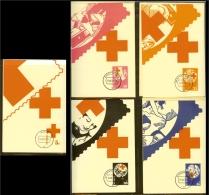 1972 - Max.cards NVPH No. 1015-1019 - Red Cross [NL189_01] - Rode Kruis