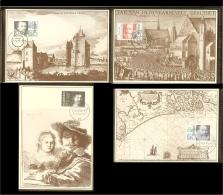 1983 - Max.cards NVPH No. 1281-1284 - Summerstamps - Historical Persons [A84_12] - Beroemde Personen