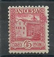 ANDORRA CORREO ESPAÑOL  BONITO SELLO Nº 38 CON FIJASELLOS (S.1.C.08.18) - Andorre Espagnol