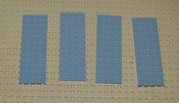 Lego Lot De 4 Plate Gris 4x12 Ref 3029 - Lego Technic