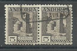 ANDORRA CORREO ESPAÑOL  BONITA PAREJA SELLOS Nº 29 SIN FIJASELLOS (S.1.C.08.18) - Andorre Espagnol