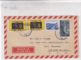 SOBRE ENVELOPE AIRMAIL CIRCULE TURKEY TO USA. CIRCA 1959- BLEUP - Turkije