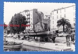 Photo Ancienne Snapshot - Port D' AJACCIO ( Corse ) - Elévation D'un Bateau De Pêche - Juin 1967 - TOP - Boat Grue Ship - Boats