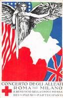 """0221 """"CONCERTO DEGLI ALLEATI ROMA-MILANO A BENEFICIO DELLA CROCE ROSSA DEI PAESI PARTECIPANTI""""   CART  SPED 1918 - Croix-Rouge"""