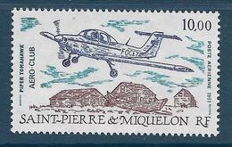 Timbre Neuf** St Pierre Et Miquelon , N °70 PA Yt , Aéroclub De St Pierre, Piper Tomahawk En Vol - Ongebruikt
