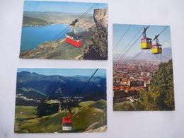TELEFERIQUE (FRANCE) : Grenoble, Lioran Et Mont Veyrier LOT De 3 CPM  - Scan Recto - Verso - Cartoline