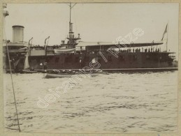 2 Photos D'un Bateau De Guerre à Brest Vers 1900 . - Boats
