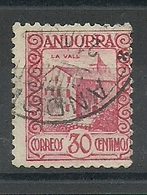 ANDORRA CORREO ESPAÑOL  SELLOS Nº 36 USADO (S.1.C.08.18) - Andorre Espagnol