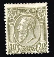 Belgique - 1884-91 - * - COB 47 - 20c - Avec Gomme - - 1884-1891 Leopold II