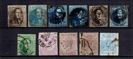 Belgique 11 Classiques Oblitérés 1849/1891. Bonnes Valeurs. B/TB. A Saisir! - Belgium