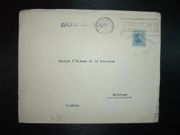 LETTRE Pour La FRANCE TP 12 OBL.MEC.NOV 24 1938 MONTEVIDEO E-R.D.U. + BANCO ALEMAN TRANSATLICO GERENCIA - Uruguay