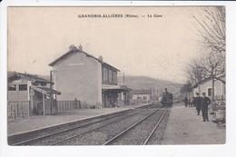 GRANDRIS ALLIERES - LA GARE - TRAIN - 69 - Frankrijk