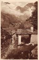 """0226 """"(TO) VALLI DI LANZO-USSEGLIO-FRAZIONE ARNAS E CAPPELLA DI S. ANNA-LA LERA M.3355""""  ANIMATA. CART   SPED 1921 - Italie"""