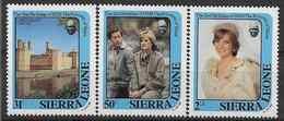 1982 SIERRA LEONE 503-05 ** Diana - Sierra Leone (1961-...)