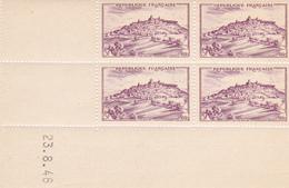 N° 759 Coin Daté En Timbres Neufs 23/08/1946 Vézelay. - 1940-1949