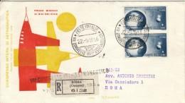 1956 - ASTRONAUTICO - FDC VENETIA  - RACCOMANDATA - 6. 1946-.. Repubblica