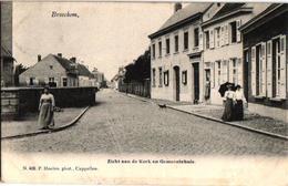 1 Oude  Postkaart   Broechem  Zicht Aan De Kerk & Gemeentehuis   Uitg. Hoelen N°406 - Ranst