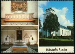 AK Schweden Edshult - Kirche  Mehrbildkarte - Schweden