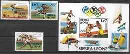 1984 SIERRA LEONE 581-83+ BF 20 ** J.O Los Angelès, Boxe - Sierra Leone (1961-...)