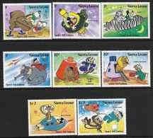 1983 SIERRA LEONE 569-76 ** Walt Disney, Espace - Sierra Leone (1961-...)