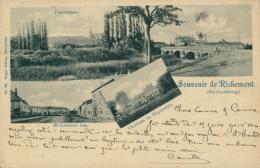 57 RICHEMONT  / SOUVENIR  Panorama Richemont Bas Château De Pépinville / CARTE RARE - Autres Communes