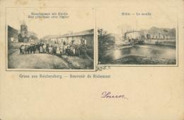 57 RICHEMONT  /  Rue Principale Avec L'église Le Moulin / CARTE RARE - Autres Communes