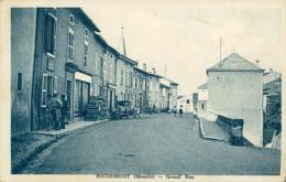 57 RICHEMONT  /  GRAND RUE / CARTE RARE - France