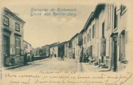57 RICHEMONT  / UNE RUE /  CARTE RARE 1900 - France