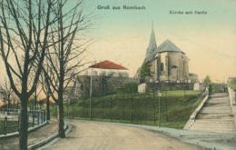 57 ROMBAS  / Kirche Mit Partie  /  BELLE CARTE COULEUR  RARE - France
