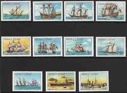 1984 SIERRA LEONE 602-12 ** Bateaux, Série Courte, Manque 613-15 - Sierra Leone (1961-...)