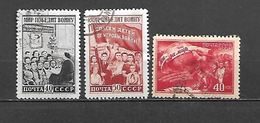 1950 - N. 1490/92 USATI (CATALOGO UNIFICATO) - 1923-1991 URSS