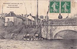 87-MAGNAC-LAVAL- PONT Du GUE - Les LAVANDIERES- Ecrite-Timbrée- Cachet Magnac 1908 - France