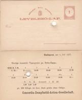 ENTERO ENTIER  MAGGY KIR POSTA 1877- BLEUP - Postal Stationery