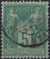 Sage N°102 Oblitéré Càd De SFAX /régence De TUNIS.signé Calves - 1898-1900 Sage (Type III)