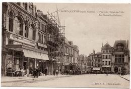 Saint Quentin : Place De L'Hôtel De Ville, Les Nouvelles Galeries, Après Guerre (Edit. N.G. N°17) - Saint Quentin