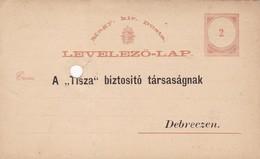 ENTERO ENTIER  MAGGYAR KIR POSTA LEVELEZO LAP CIRCA 1877 - BLEUP - Postal Stationery