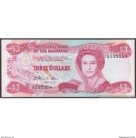 TWN - BAHAMAS 44a - 3 Dollars L.1974 (1984) Prefix A UNC - Bahamas