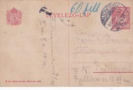 ENTERO ENTIER LEVELEZO LAP CIRCULEE BUDAPEST CIRCA 1920 - BLEUP - Postal Stationery