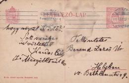 ENTERO ENTIER LEVELEZO LAP CIRCULEE BUDAPEST CIRCA 1918 - BLEUP - Postal Stationery