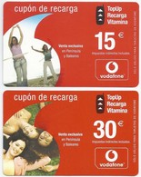 ES.- VODAFONE. CUPON DE RECARGA. 15 En 30 Euro. 2005. Venta Exclusiva En Peninsula Y Baleares. - Spanje