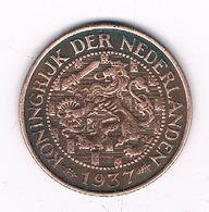 1 CENT 1937  NEDERLAND /4655G/ - [ 3] 1815-… : Kingdom Of The Netherlands