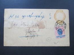 Brasilien Um 1894 Ganzsache / Umschlag Mit Zusatzfrankatur Nach Berlin / Deutschland. Weitergleitet! - Briefe U. Dokumente