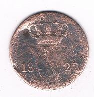 1 CENT 1822  NEDERLAND /4657G/ - [ 3] 1815-… : Kingdom Of The Netherlands