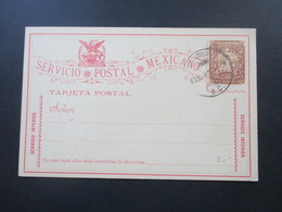 Mexico 1890er Jahre Or/ Blankokarte Gestempelt. Servicio Interior - Mexiko