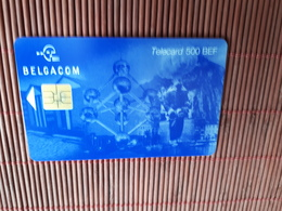 Phonecard Atomium 500 BEF Used GH  31.08..2001 Only 50.000  Made Rare - Belgium