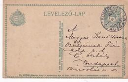 ENTERO ENTIER LEVELEZO LAP CIRCULEE BUDAPEST CIRCA 1917 - BLEUP - Postal Stationery