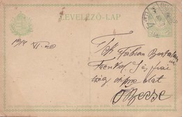 ENTERO ENTIER LEVELEZO LAP CIRCULEE BUDAPEST CIRCA 1914 - BLEUP - Postal Stationery