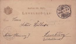ENTERO ENTIER LEVELEZO LAP CIRCULEE BUDAPEST TO HAMBURG CIRCA 1914 - BLEUP - Postal Stationery